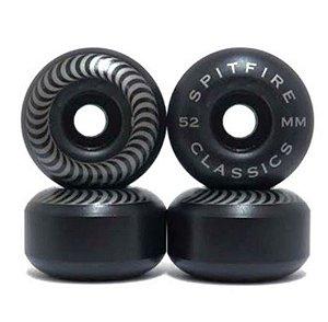 Rodas de Skate Spitfire Classic 52MM 99A Preta