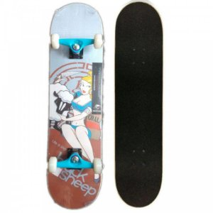 SKATE MONTADO COM SHAPE BLACK SHEEP OVELHA