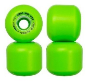 RODAS MINI CUBIC POWELL PERALTA VERDE RESSUE 64MM 95A