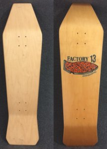 SHAPE COFFIN BOARD FACTORY 13 COR NATURAL
