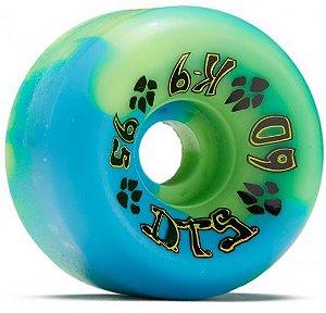 Rodas de Skate Old School Dogtown K-9 mesclada Verde/Azul 60mm x 95a