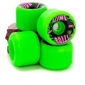 Rodas de Skate Santa Cruz Slime Balls Splat Vomits Neon Green 60mm 97A IMPORTADA