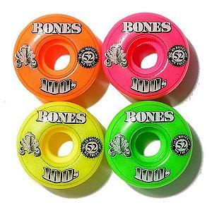 Rodas de Skate Bones 100s Formula v1 52mm 100A IMPORTADA