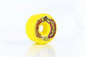 Rodas de Skate Anarquia Dum Dum Amarela 60mm 97A NACIONAL