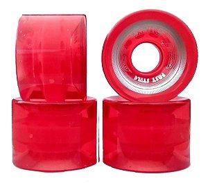 Rodas de Skate Cruiser Creme Vermelha Translúcida 60mm 82A