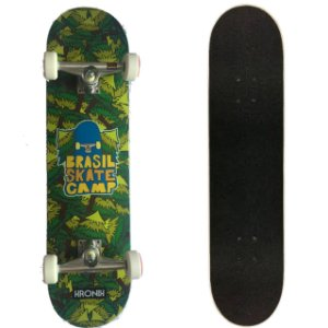 SKATE MONTADO COM SHAPE MAPLE KRONIK