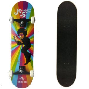 SKATE MONTADO COM SHAPE MAPLE KRONIKSON FIVE