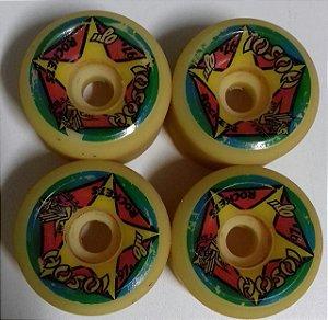 Rodas de Skate Hosoi Rockets 61mm 97A Semi-Novas