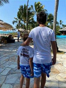 Beach Shorts Tie Dye Azul Adulto