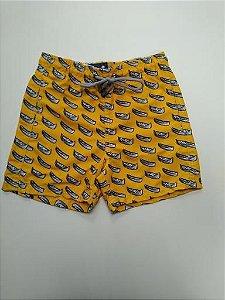 Beach Shorts Amarelo Barquinho