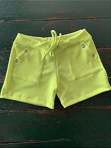 Shorts Ilhos Amarelo Flour