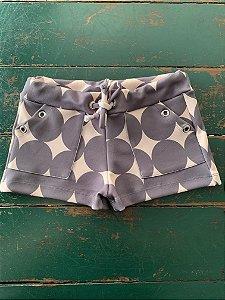 Shorts Ilhos Rose com bolas cinza