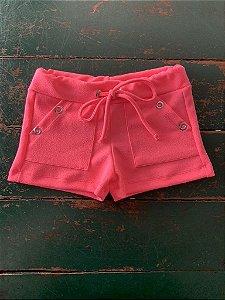 Shorts Ilhos Pink Flour