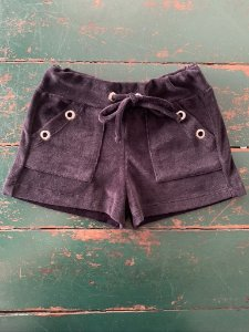 Shorts Ilhos Plush Preto