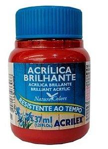 Tinta Acrílica Brilhante Acrilex 37ml - Vermelho Escarlate 508