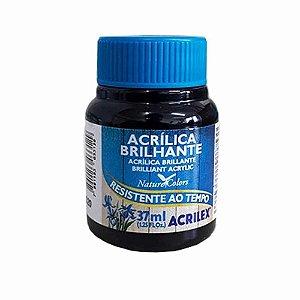 Tinta Acrílica Brilhante Acrilex 37ml - Preto 520