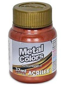 Tinta Acrílica Metálica Acrilex 37ml - Cobre 534
