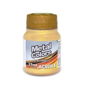 Tinta Acrílica Metálica Acrilex 37ml - Ouro 532