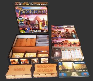 Organizador (Insert) para 7 Wonders - Modelo 1