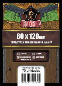 Sleeves Customizado - Cash'n Guns (60x120)