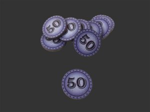 Kit de 10 Moedas de Valor 50