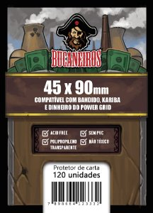 Sleeve Customizado - Bandido / Kariba / Dinheiro do Power Grid / Futuropia (45 x 90)