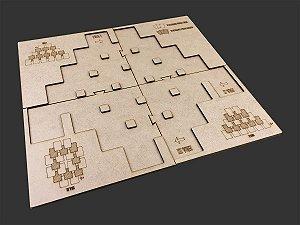 Playmat em MDF para 7 Wonders Duel - SEM CASE