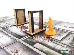 Kit 8 Portas (compatíveis com Zombicide)