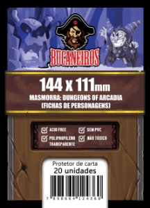 Sleeve Customizado Fichas de Personagens - Masmorra: Dungeons of Arcadia (144 x 111)