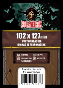Sleeve Customizado Fichas de Personagens - Fury of Dracula (102 x 127)
