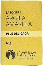 Sabonete Argila Amarela - Pele Delicada