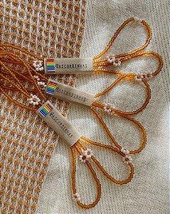 Cordinha para óculos - Flora (Caramelo)