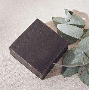 Sabonete e Shampoo Vegano em Barra | Banho de Ervas | Melaleuca e Argila Preta | 95g