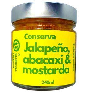 Conserva agridoce de Jalapeño, Abacaxi & Mostarda