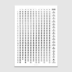 Poster Calendário Lunar 2020