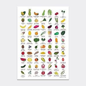 Poster Sazonalidade de Frutas e Legumes