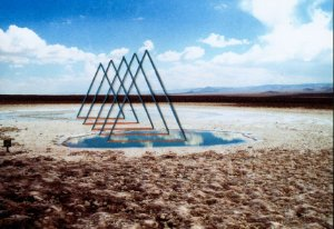 Foto bordada Triângulos em perspectiva M avulsa