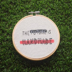 Quadro Bastidor The Future is Handmade