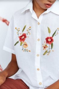 Camisa Off White Flora