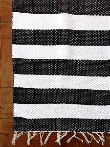 Passadeira listra grossa preto e branco