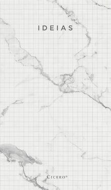 Bloco Anotações Mármore 10,5x18 - Branco - Quadriculado