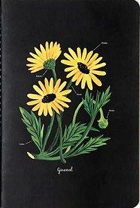 Caderneta Meu Pequeno Cicero Jardins 14x21 - Girassóis - Sem Pauta