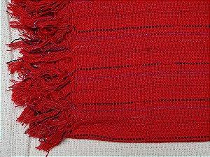 Xale Vermelho com fios decorativos