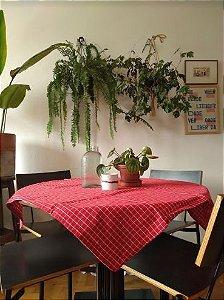 Toalha de mesa riscas vermelha