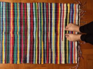 Beira cama malha colorido