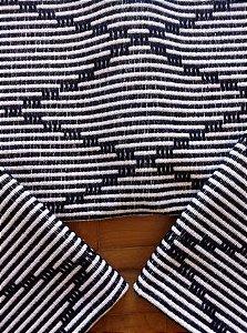 Kit passadeira em algodão artesão preto