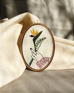 Kit para bordar lilás Camila Belotti