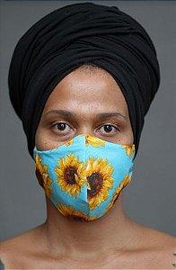 Máscara em Tecido Girassol
