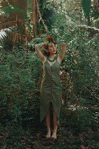 Vestido Folha Verde Floresta