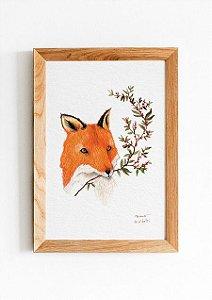 QUADRO FOX WITH COFFEE BERRIES 10x15
